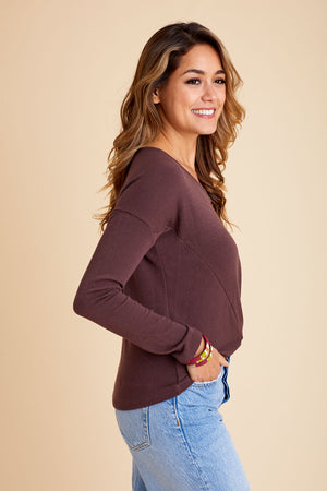 Six Fifty Knot Front Long Sleeve Top