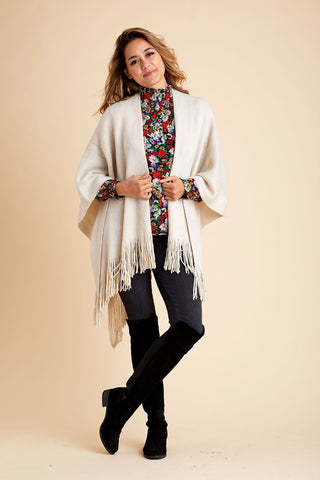 Look by M Sparkle Fringe Shawl