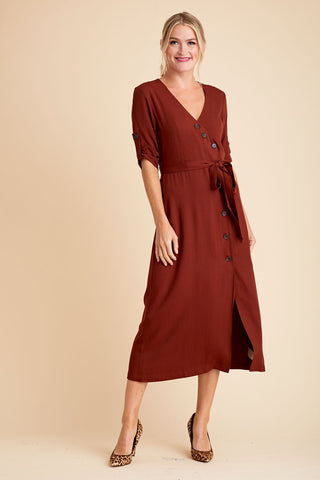 BB Dakota Button Up Your Story Midi Dress