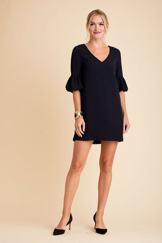 BB Dakota Power Shift 3/4 Sleeve Crepe Shift Dress