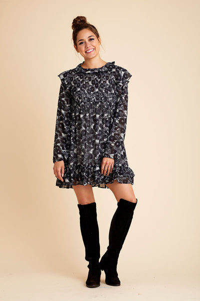 Free People These Dreams Floral Mini Dress