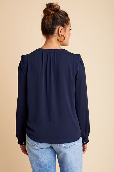 Current Air Long Sleeve Vneck Top