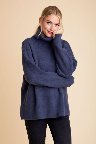 Look by M Oversized Turtleneck Sweater