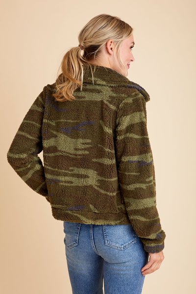 Z Supply Camo Sherpa Jacket