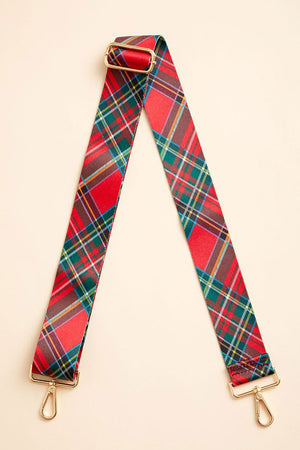 Load image into Gallery viewer, Red Tartan Bag Strap