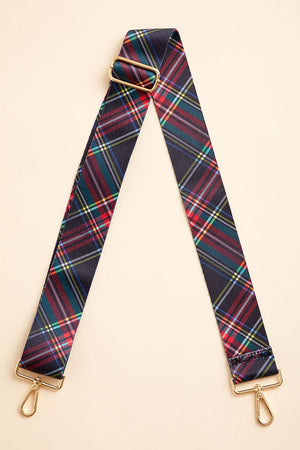 Load image into Gallery viewer, Navy Tartan Bag Strap