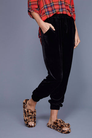 Load image into Gallery viewer, Olive and Leaf Velvet Joggers
