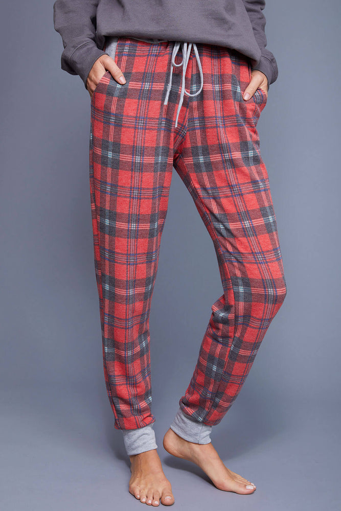 Load image into Gallery viewer, Beeson River Tartan Plaid Joggers
