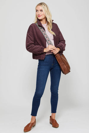 Listicle Corduroy Quilted Jacket