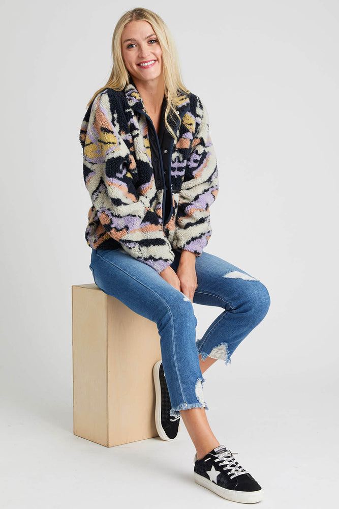 Load image into Gallery viewer, Free People Rocky Ridge Printed Fleece