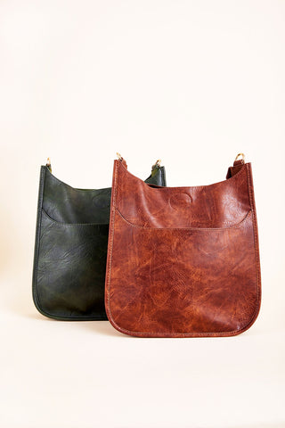 Vegan Messenger Bag (New Fall Colors!)- STRAP NOT INCLUDED