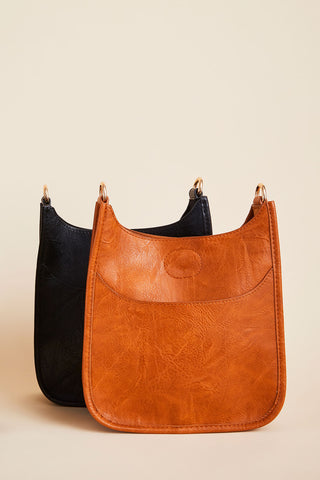 Mini Vegan Messenger Bag- STRAP NOT INCLUDED