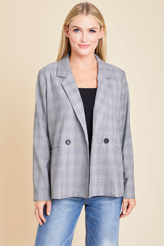 Sugarlips Glen Plaid Blazer
