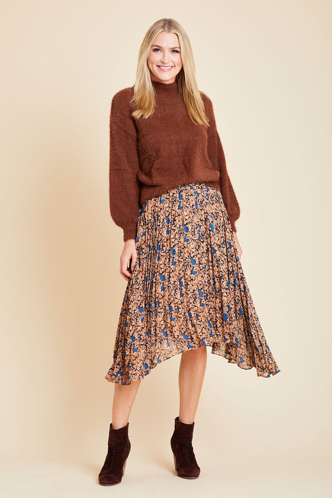 Lucy Paris Pleated Floral Skirt