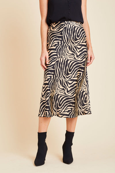 Lucy Paris Zebra Print Skirt