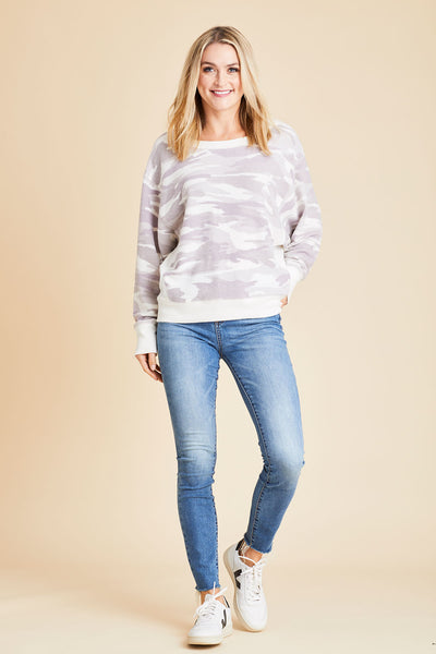 Six Fifty White Camo Sweatshirt