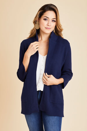 Load image into Gallery viewer, THML 3/4 Sleeve Knit Blazer