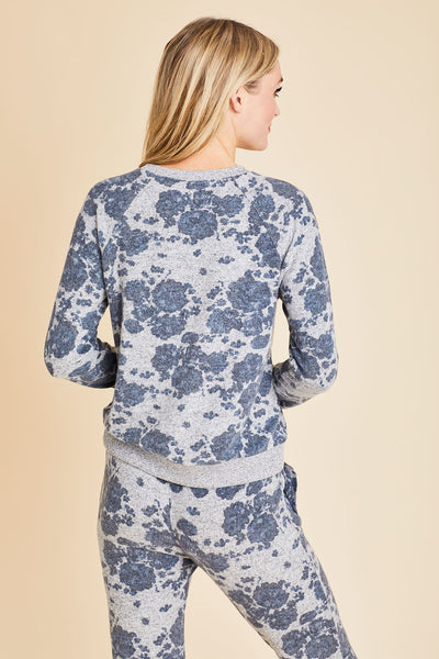 Z Supply Marled Floral Sweatshirt