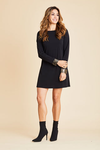 Olivia Graye Sequin Sleeve Dress