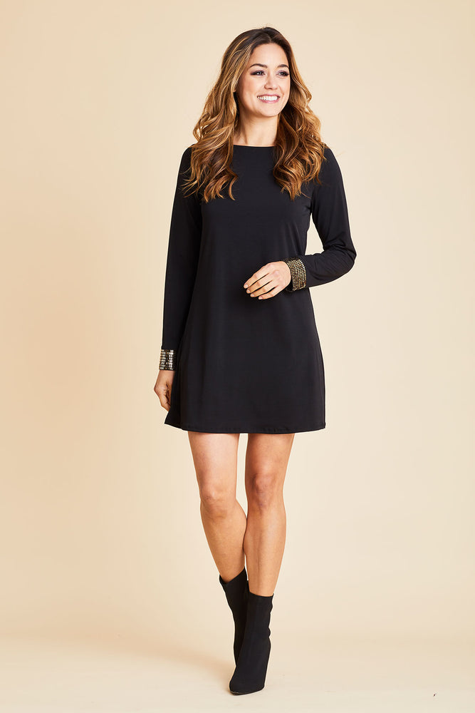 Load image into Gallery viewer, Olivia Graye Sequin Sleeve Dress
