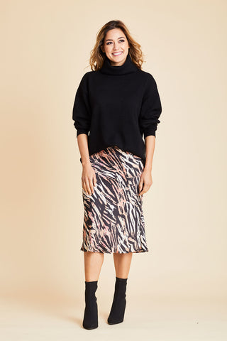 Olivia Graye Animal Print Skirt