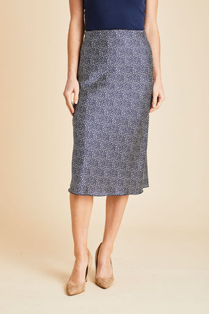 Load image into Gallery viewer, Hashtag Polka Dot Elastic Waist Skirt