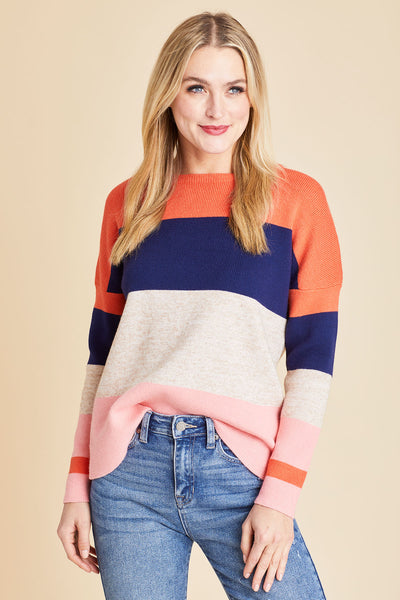 THML Crewneck Striped Sweater
