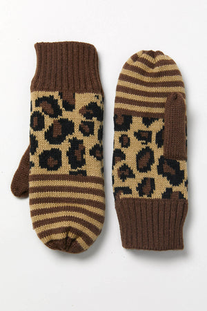 Load image into Gallery viewer, Panache Leopard Stripe Mittens