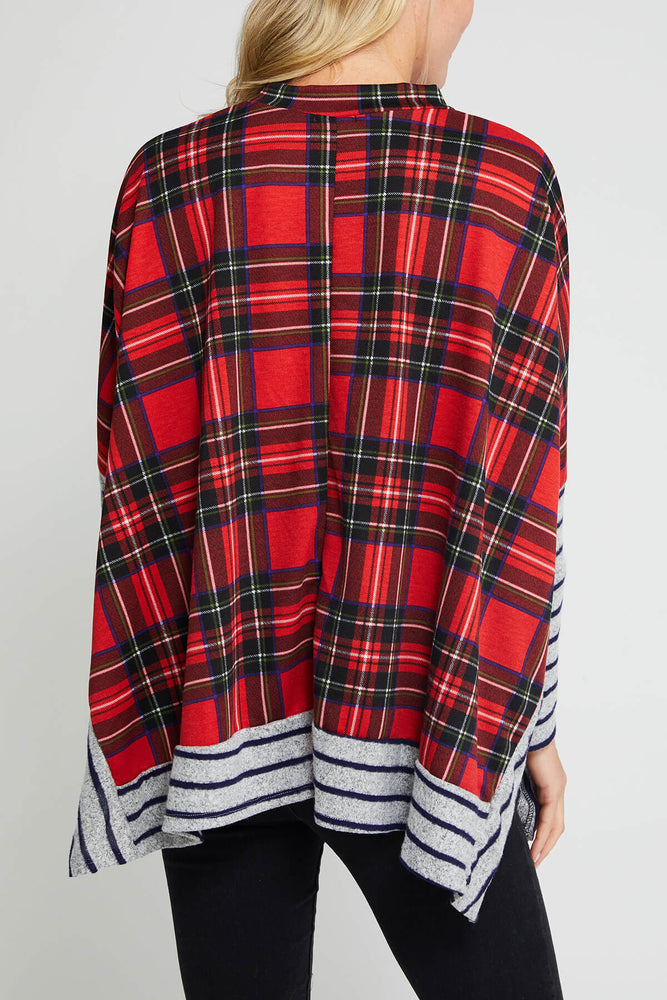 Load image into Gallery viewer, Plaid Stripe Mix Tunic