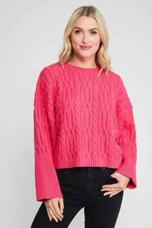 Sugarlips Cropped Cable Sweater