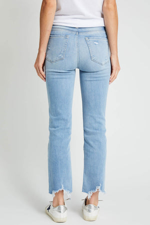 Flying Monkey High Rise Straight Ankle Jeans