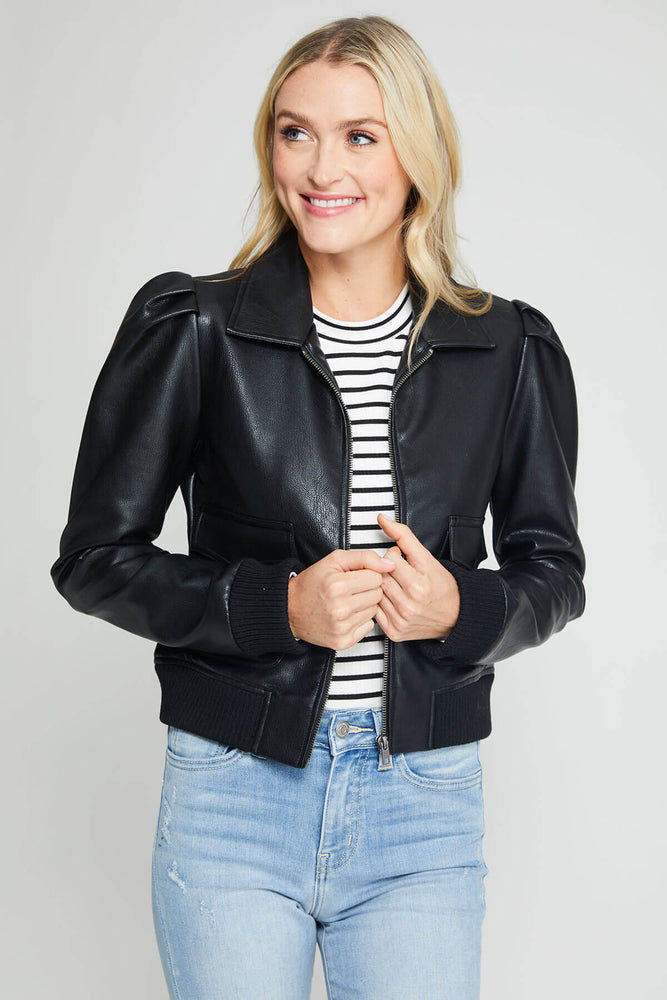 BB Dakota Faux Leather Boss Mode Jacket