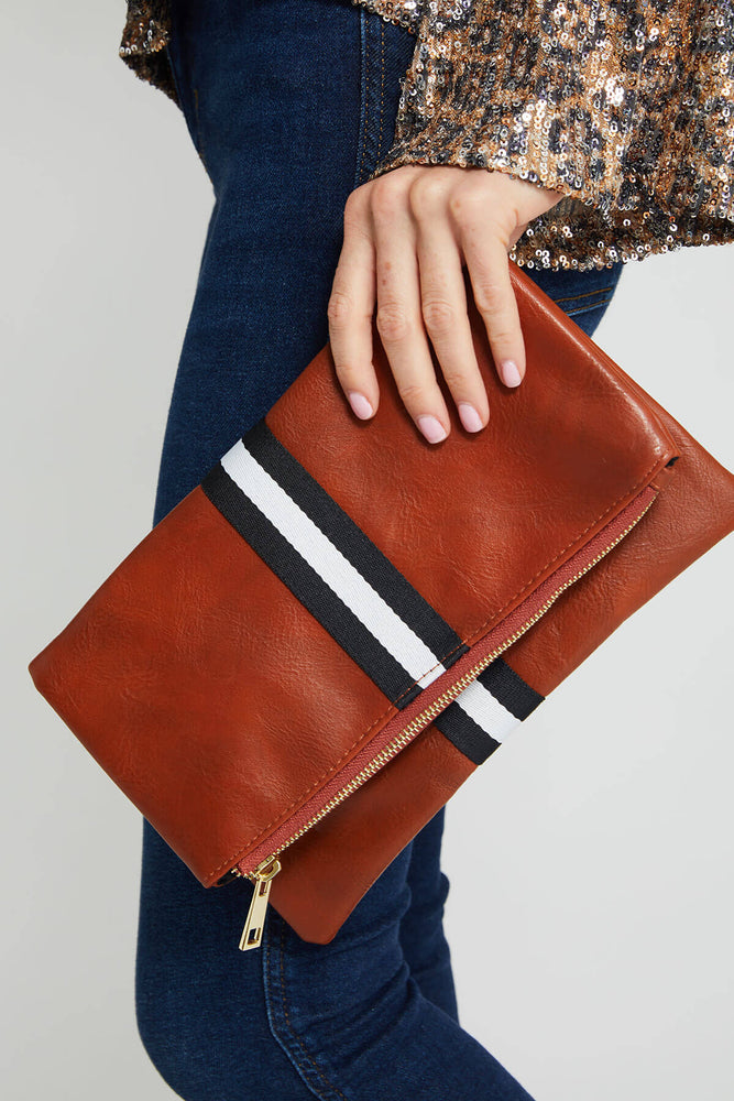 Load image into Gallery viewer, Funky Monkey Striped Clutch