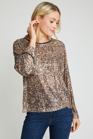 Hayden Los Angeles Animal Sequin Top