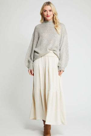 Ces Femme Knit Tiered Maxi Skirt