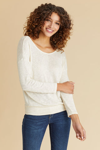 Veronica M Gold Back V-neck Sweater