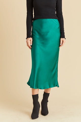 Lucy Paris Bias Cut Solid Skirt