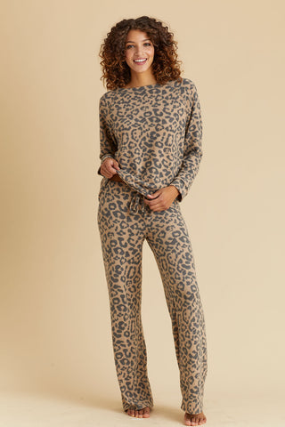 Phil Love Leopard Print Loungewear Set