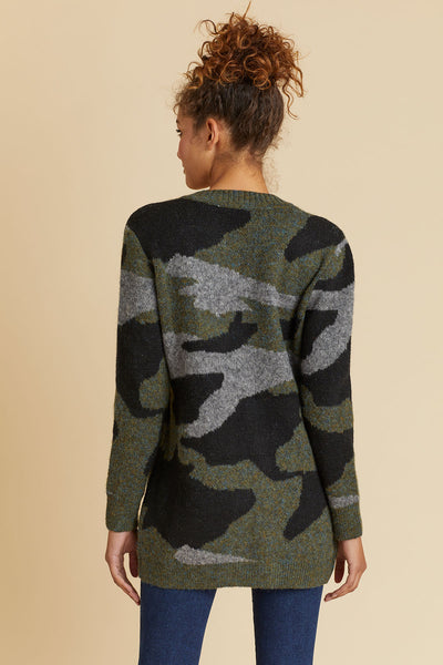 RD Style Camo Knit Cardigan