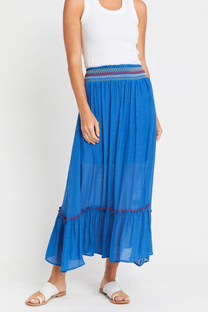 Load image into Gallery viewer, Flying Tomato Smocked Waist Skirt