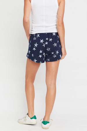 Drawstring Star Print Shorts