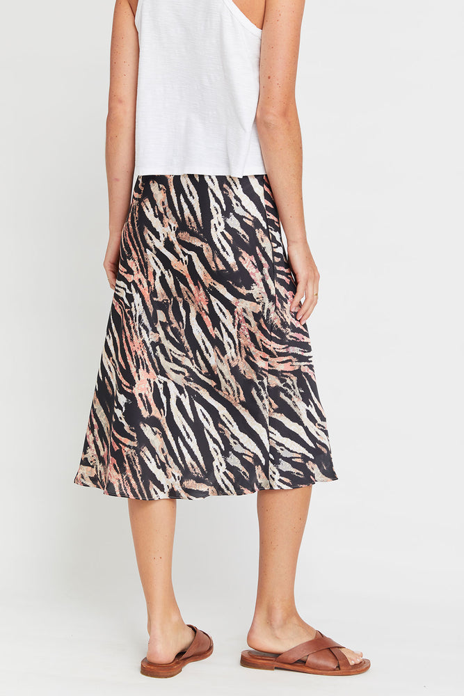 Olivia Graye Animal Print Midi Skirt