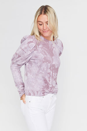Load image into Gallery viewer, Fate Tie Dye Puff Sleeve Top