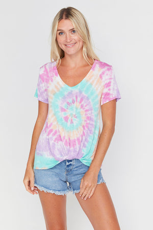 Six Fifty Knot Front Tie Dye Tee