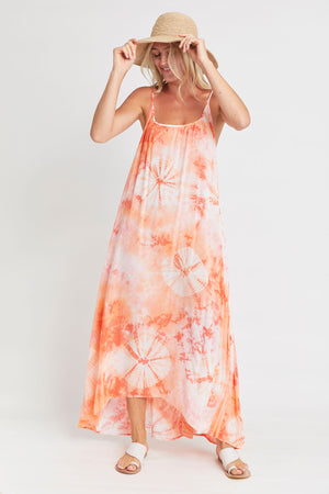 Load image into Gallery viewer, Love Stitch Tie Dye Maxi Dress