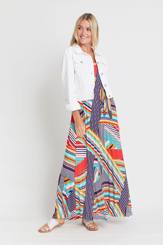 Skies Are Blue Printed Maxi Dress