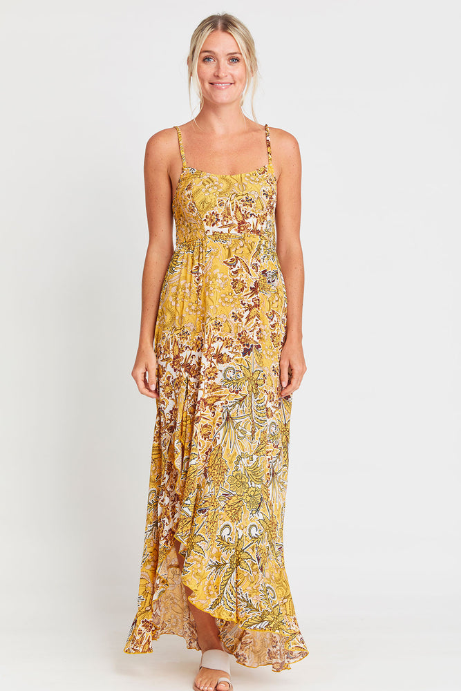 Free People Forever Yours Golden Slip Dress