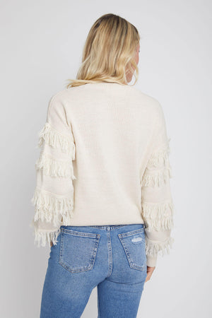 Load image into Gallery viewer, RD Style Fringe Sleeve Sweater