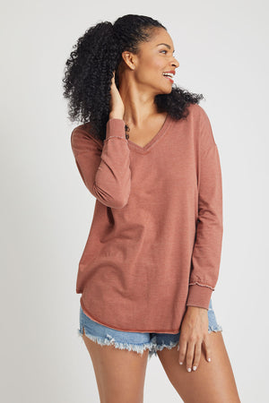 Z Supply V-Neck Weekender Sweatshirt