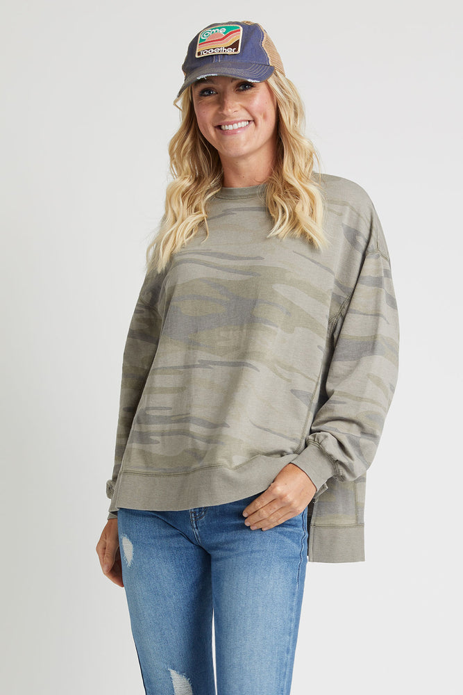 Load image into Gallery viewer, Z Supply Modern Camo Weekender Sweatshirt